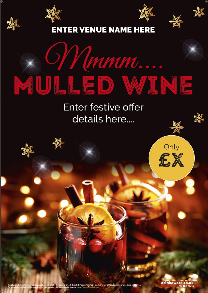 Christmas Mulled Wine Poster A1 Promote Your Pub