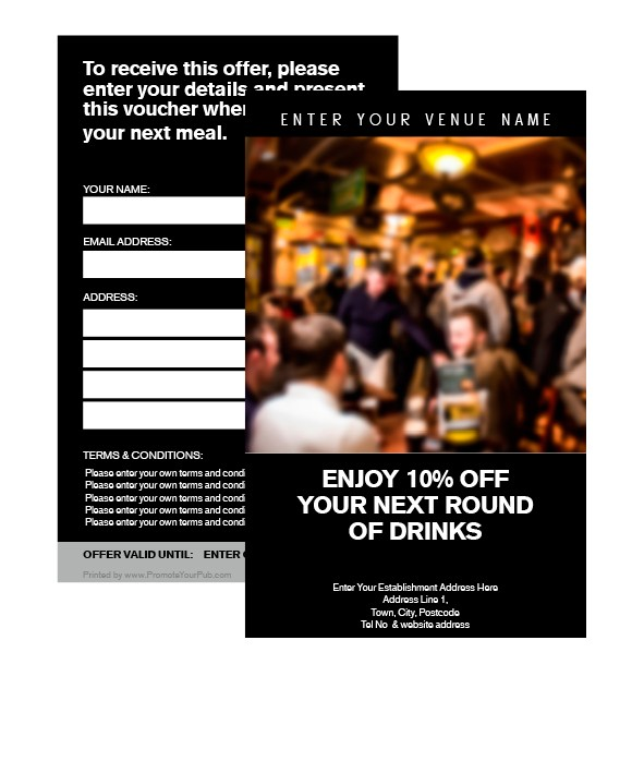 10% Off your Next Round Voucher