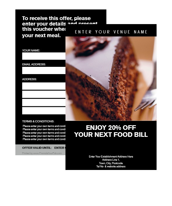 20% Off Your Food Bill