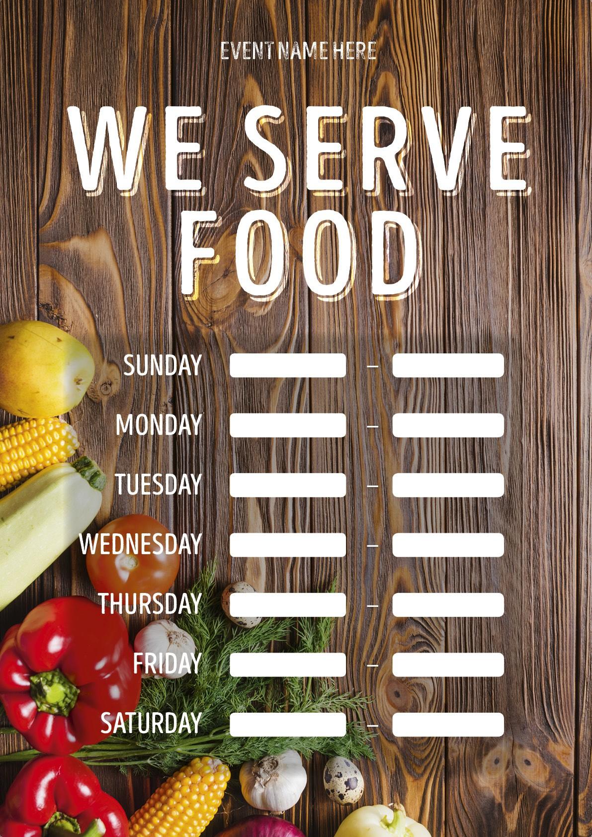 We Serve Food (times) Poster 5