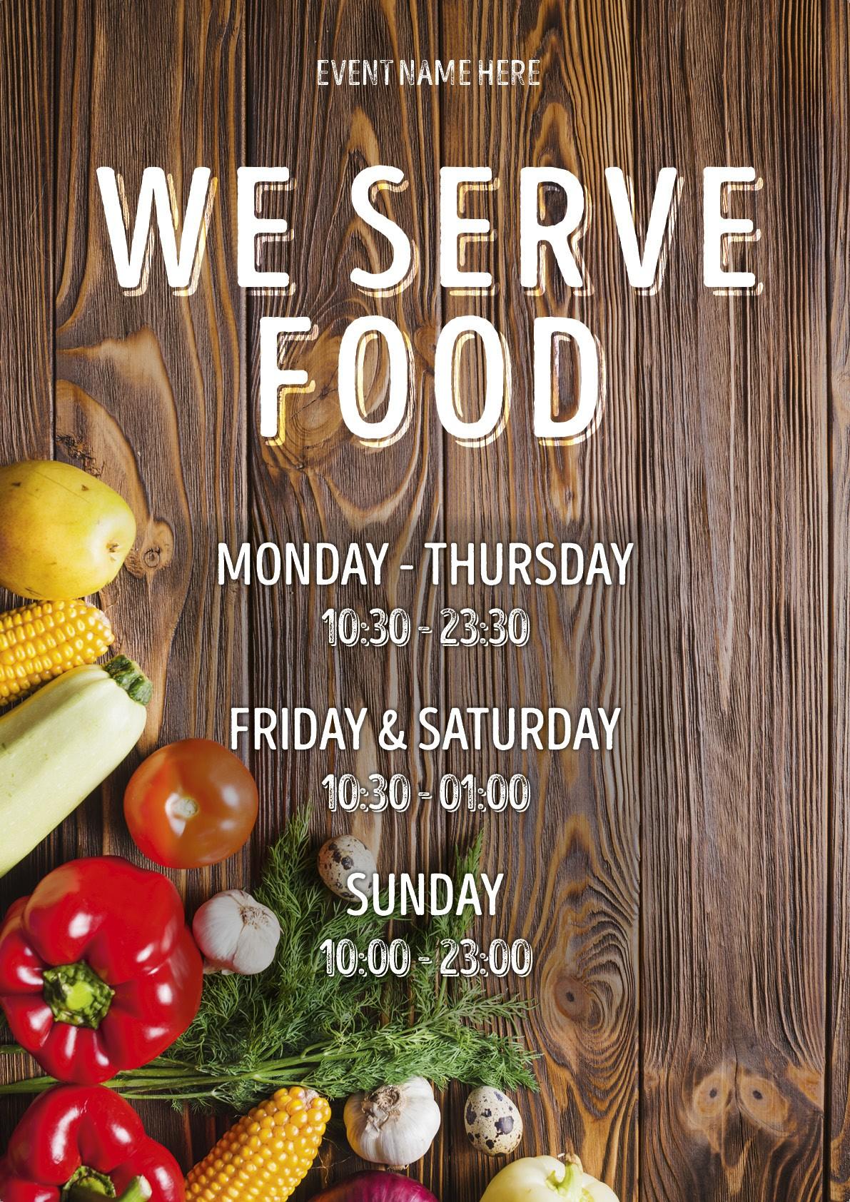 We Serve Food (times) Poster 6