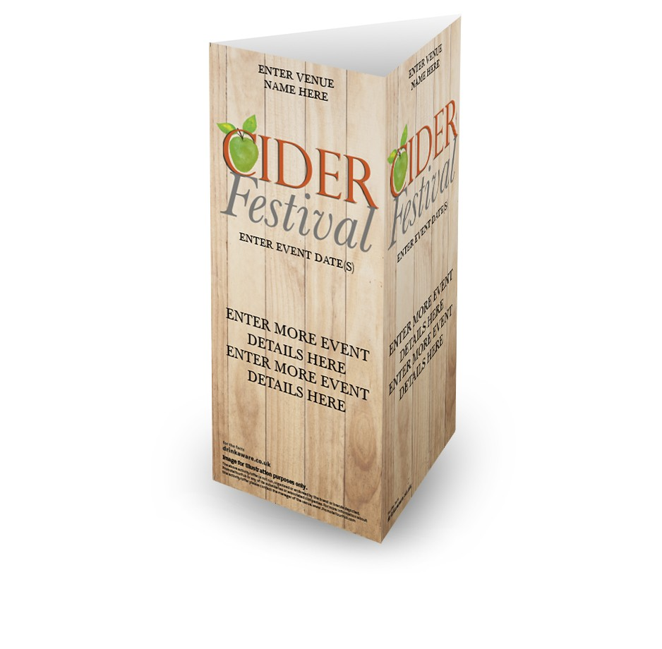 Cider Festival 3 Sided Table Talker (10 per pack)