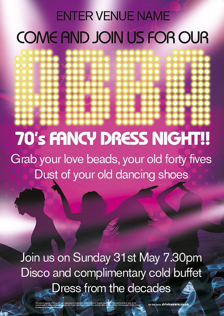 ABBA NIGHT POSTER (A4)