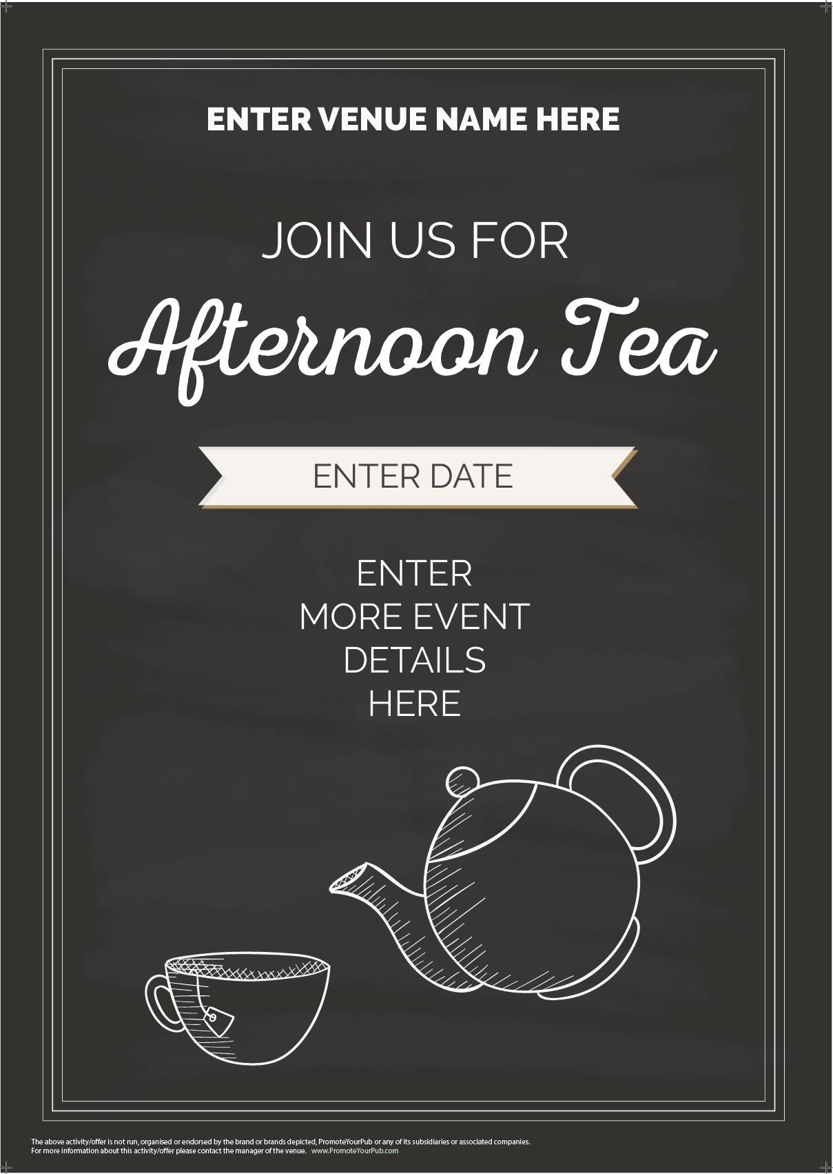 Afternoon Tea Flyer (A5) (chalk)