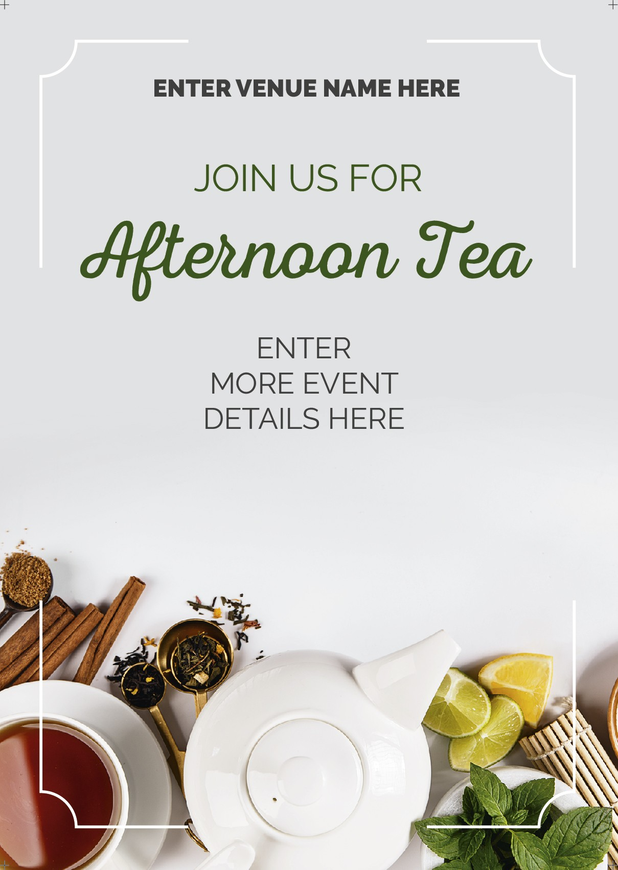 Afternoon Tea Flyer (A5) (photo)