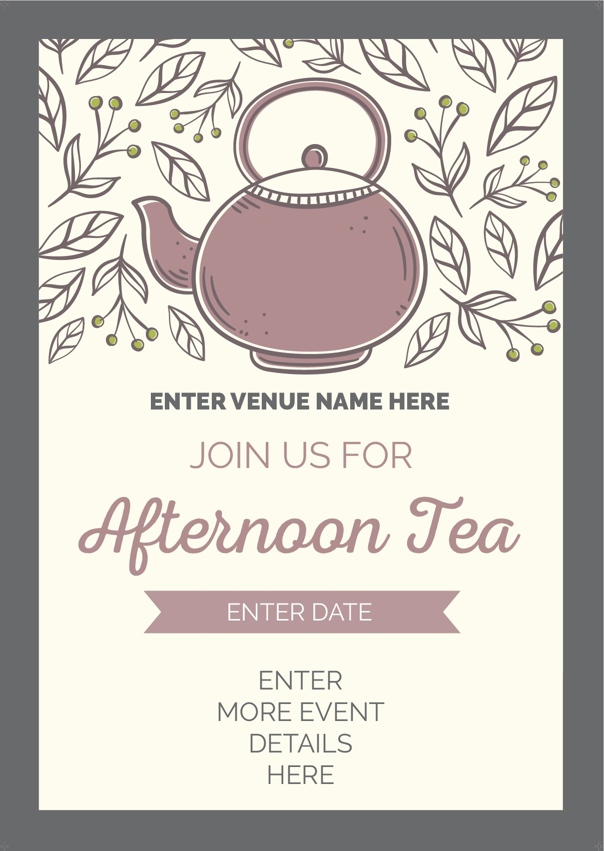 Afternoon Tea Flyer (A5) (style 1)