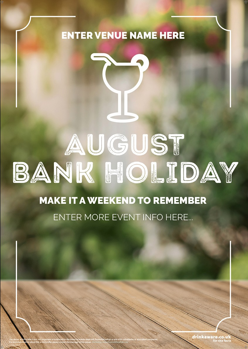 August Bank Holiday Flyer v2 (Photo) (A5)