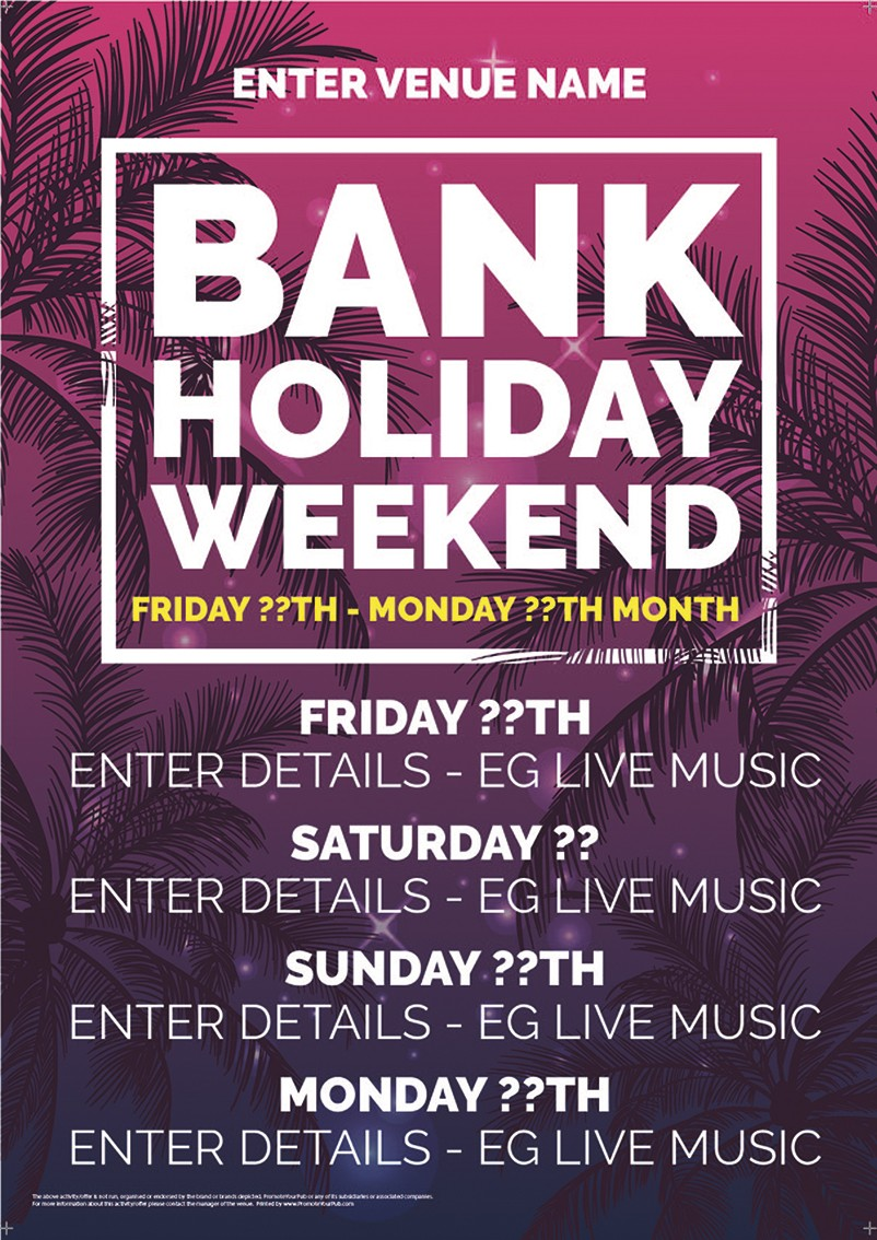 Bank Holiday Weekend Flyer (A5)