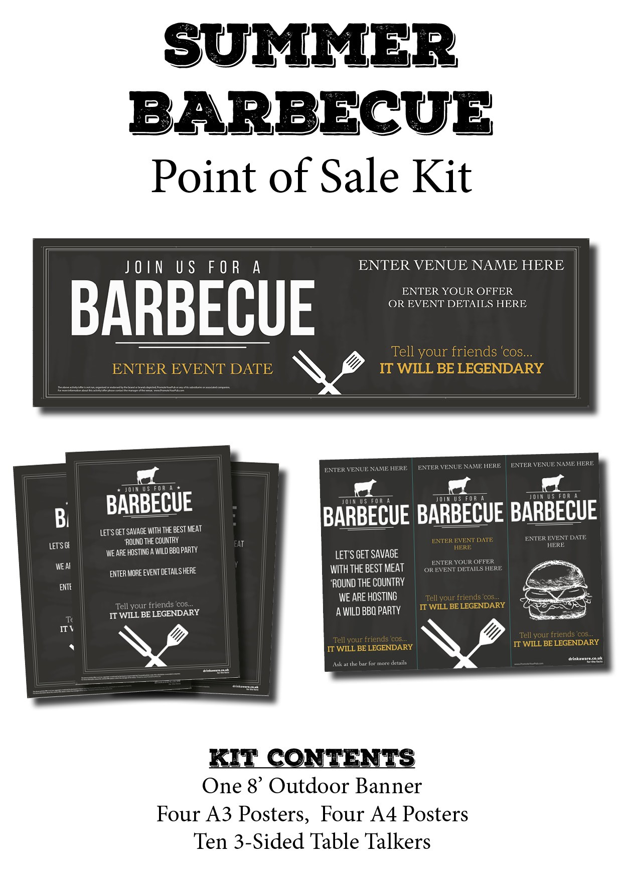 BBQ Point Of Sale KIT (chalk)
