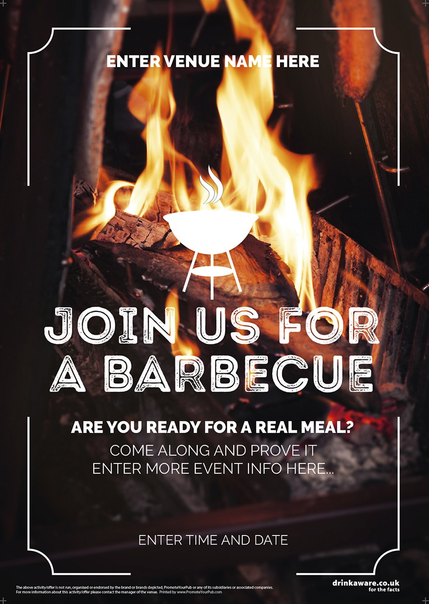 Join Us for a BBQ Poster (photo) (A2)