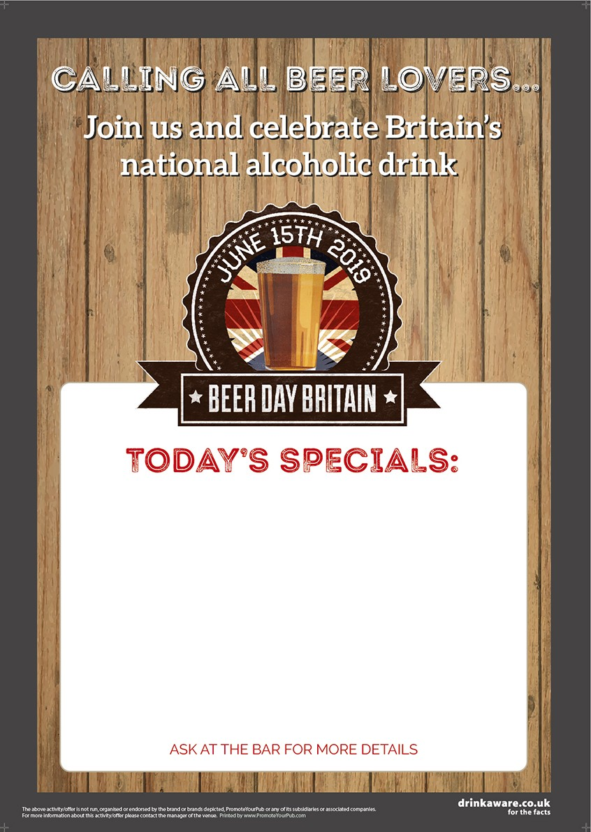 Beer Day Britain Empty Belly Poster v1