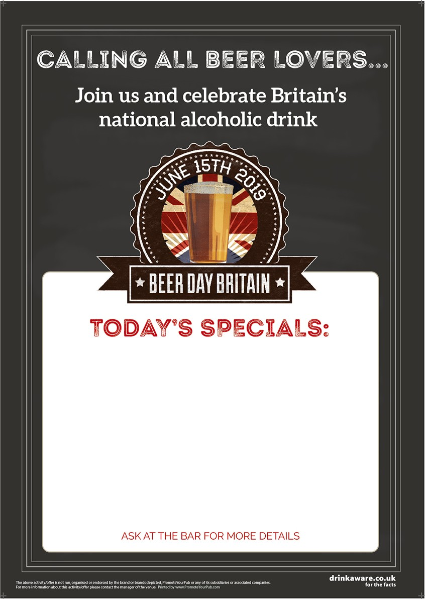 Beer Day Britain Empty Belly Poster v2