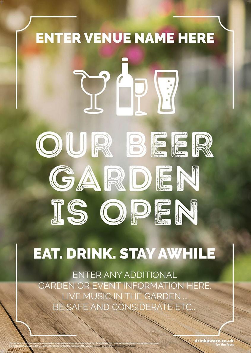 Beer Garden style 4 Poster