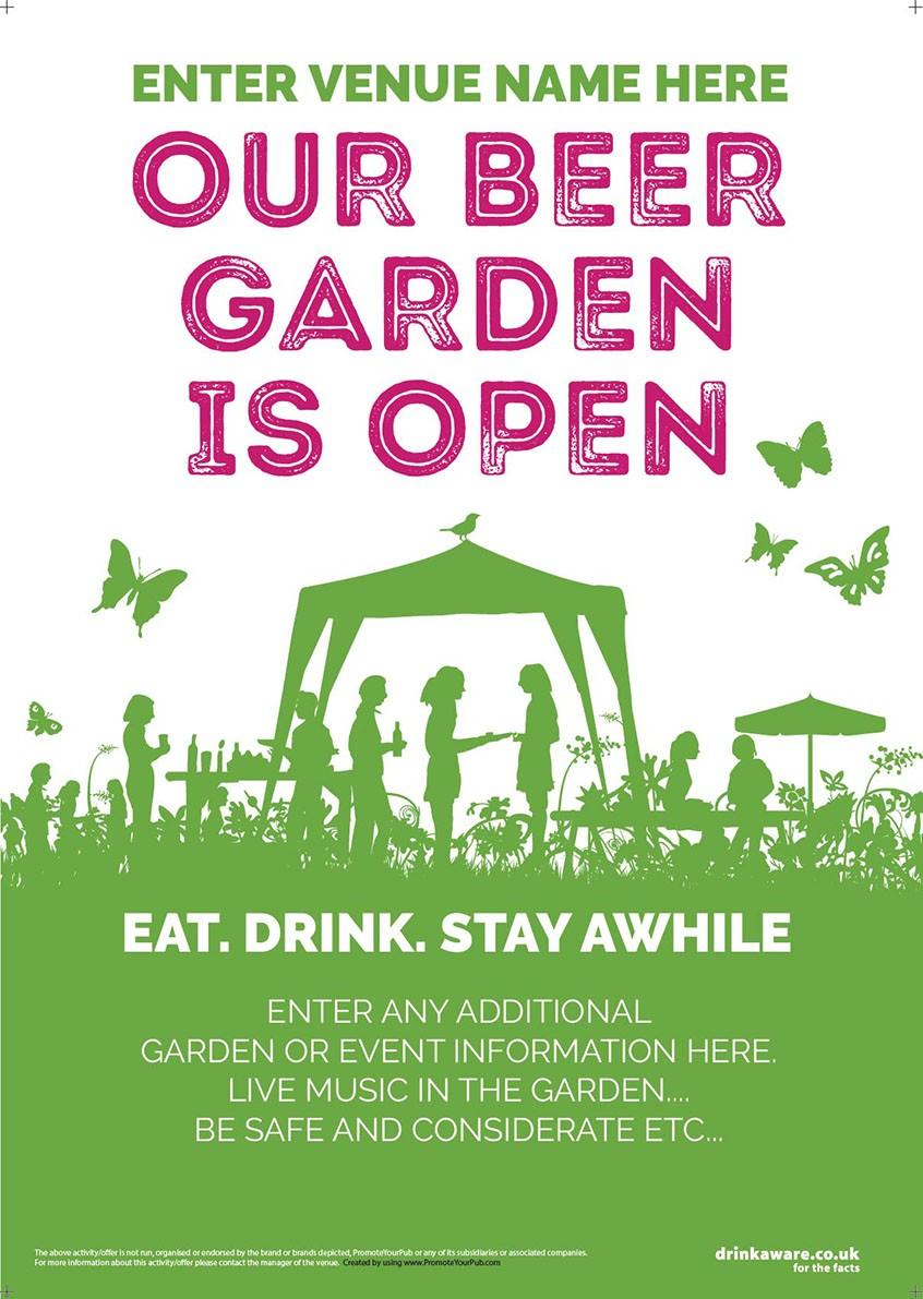 Beer Garden style 5 Poster