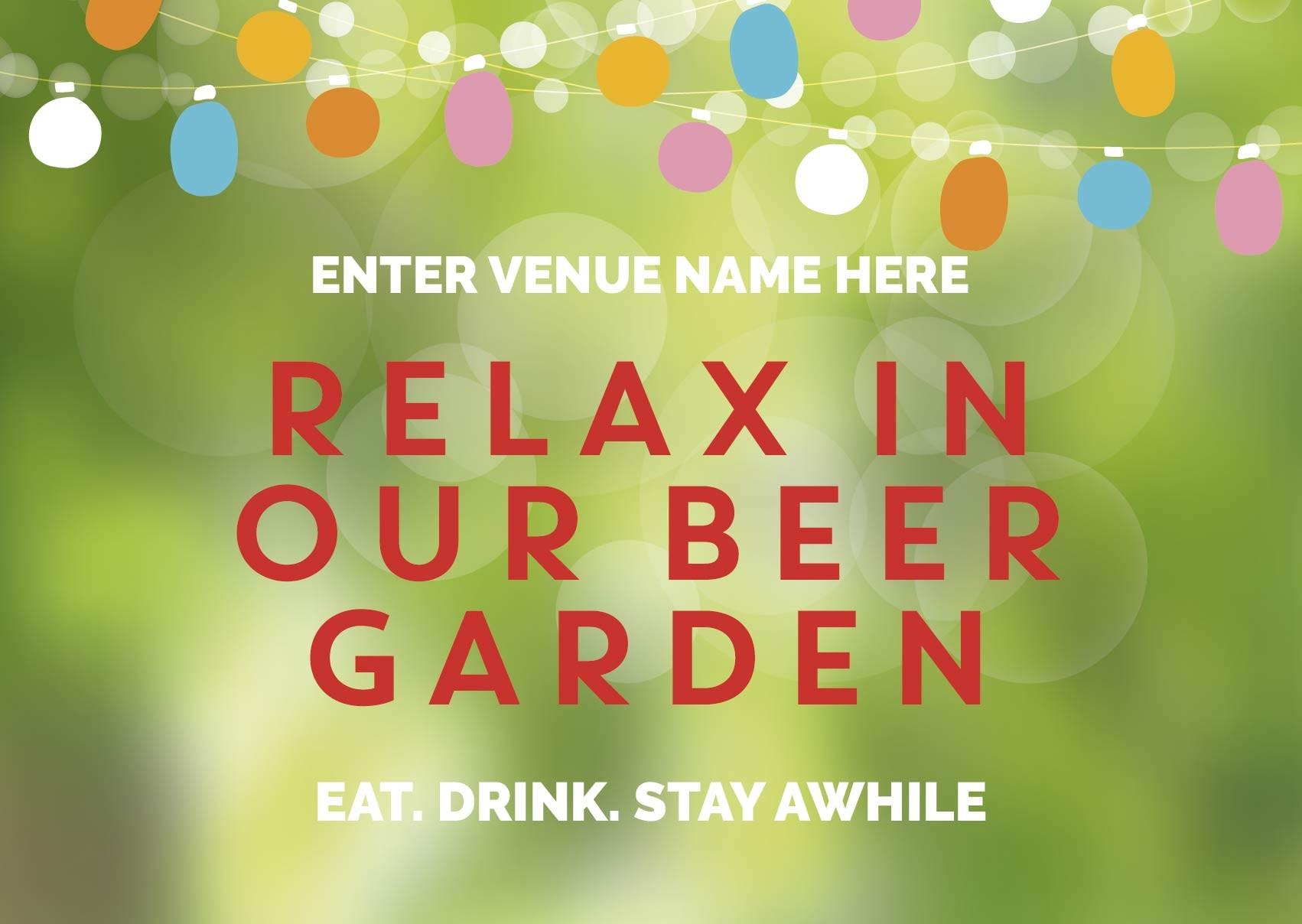 Beer Garden style 6 (landscape) Poster