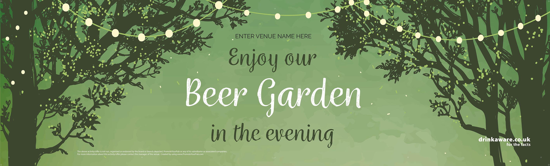 Beer Garden style 7 Banner (Lrg)