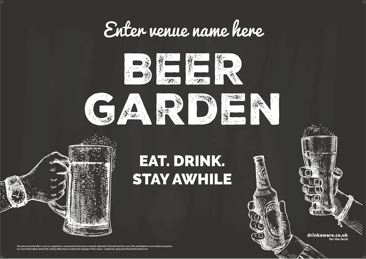 Beer Garden style 8 (landscape) Poster