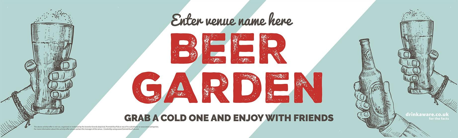 Beer Garden style 9 Banner (Lrg)