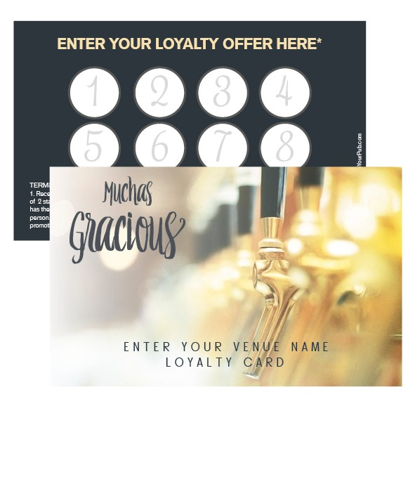 Beer Taps MG Loyalty Card