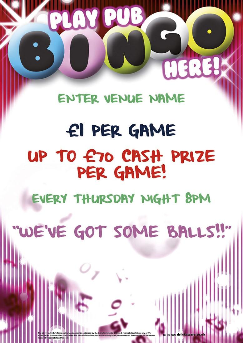 Pub Bingo Poster (A3) | Quiz & Entertainment | Regular Events ...
