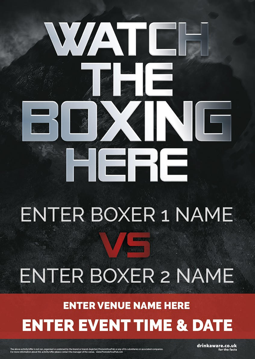 Boxing Poster A3