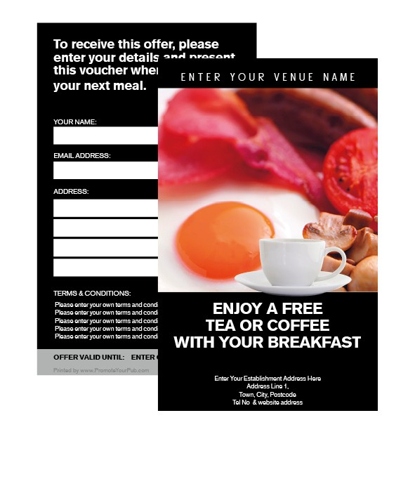 FREE Tea or Coffee with Breakfast Voucher