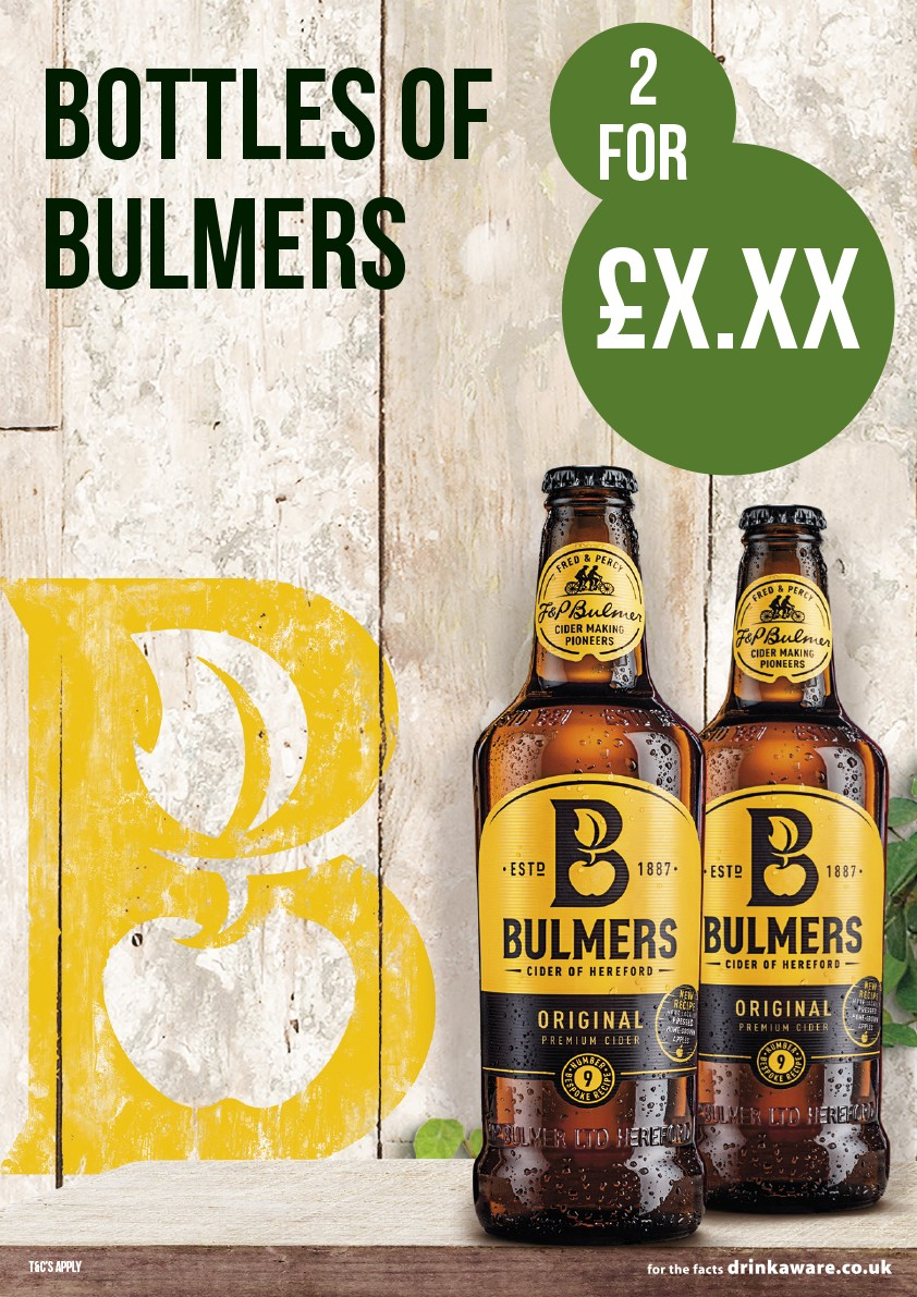 Bulmers '2 for £X' Poster