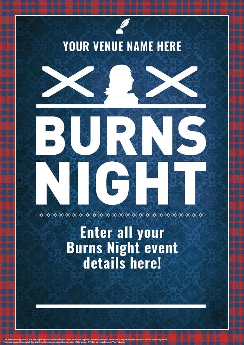 Burns Night 'Tartan Border' Poster (A2)