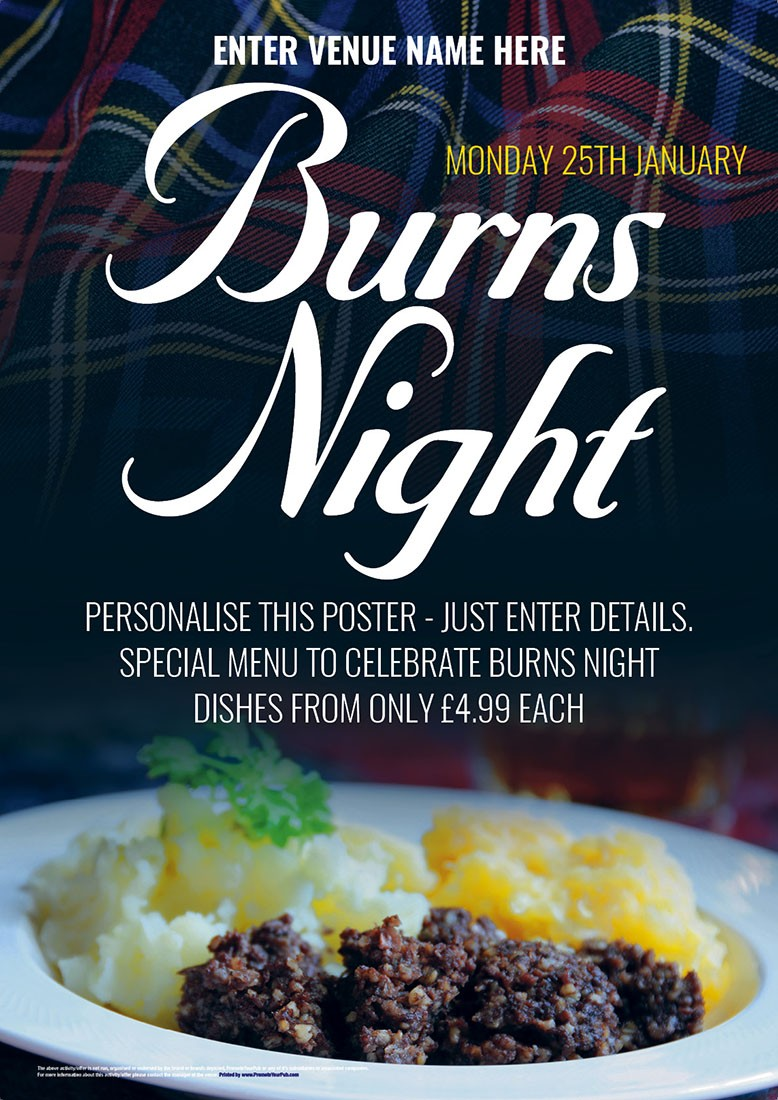 Burns Night Poster (A4)