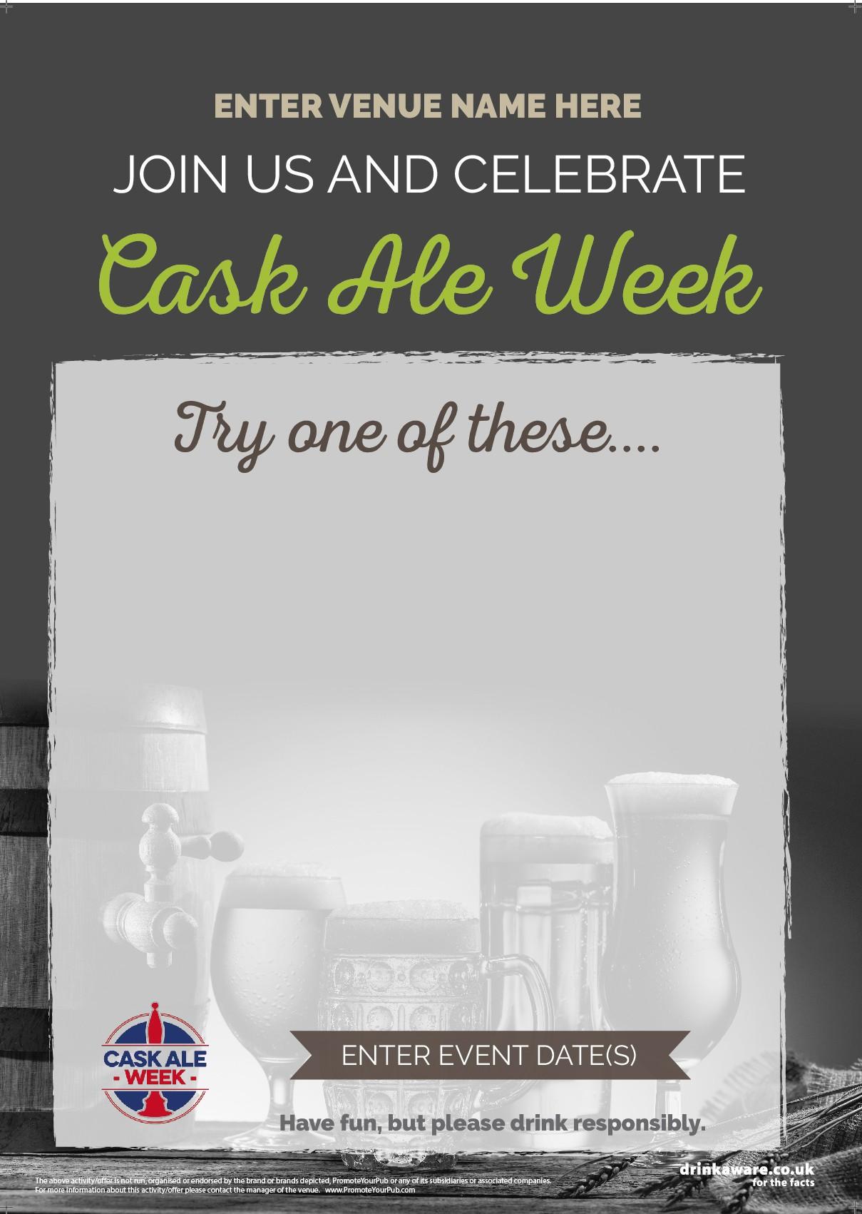 Cask Ale Week 'Empty Belly' Flyer (photo) (A5)