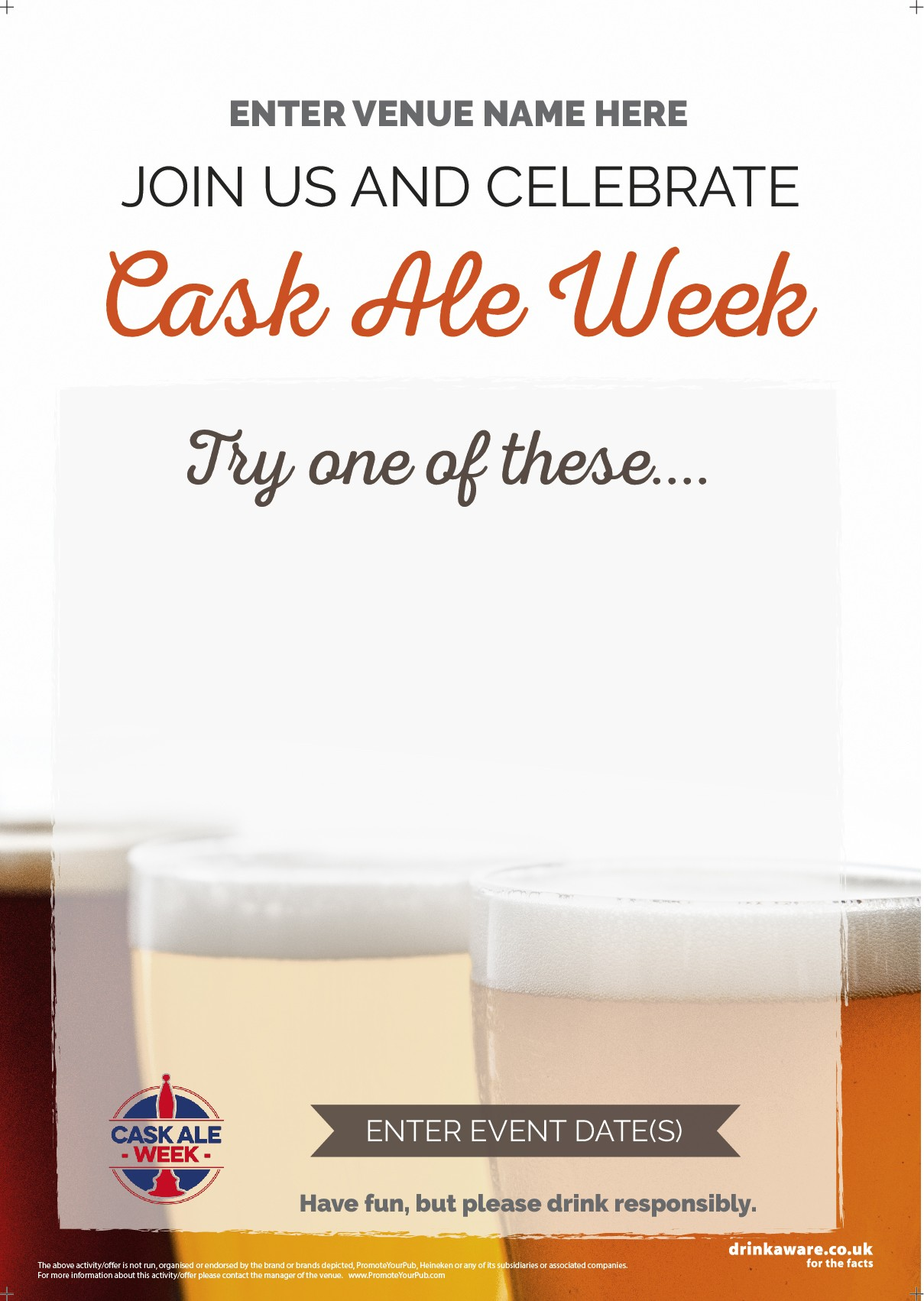 Cask Ale Week 'Empty Belly' Flyer (photo2) (A5)
