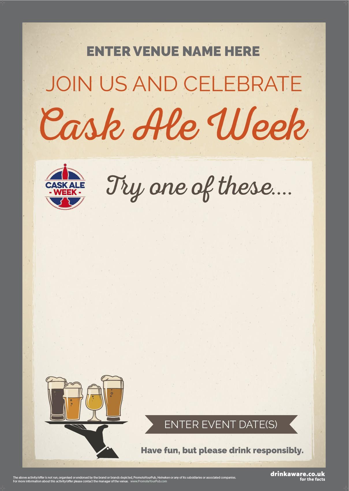 Cask Ale Week 'Empty Belly' Flyer (style1) (A5)