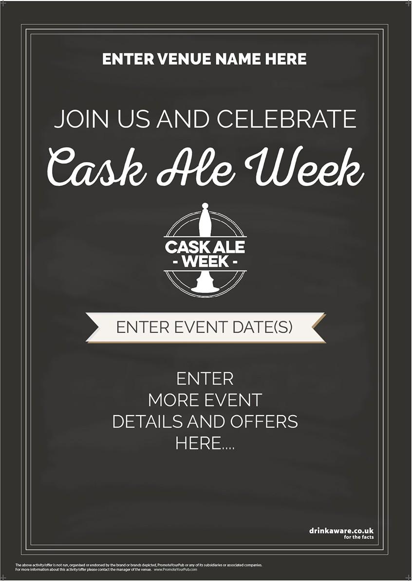 Cask Ale Week Flyer (chalk) (A5)