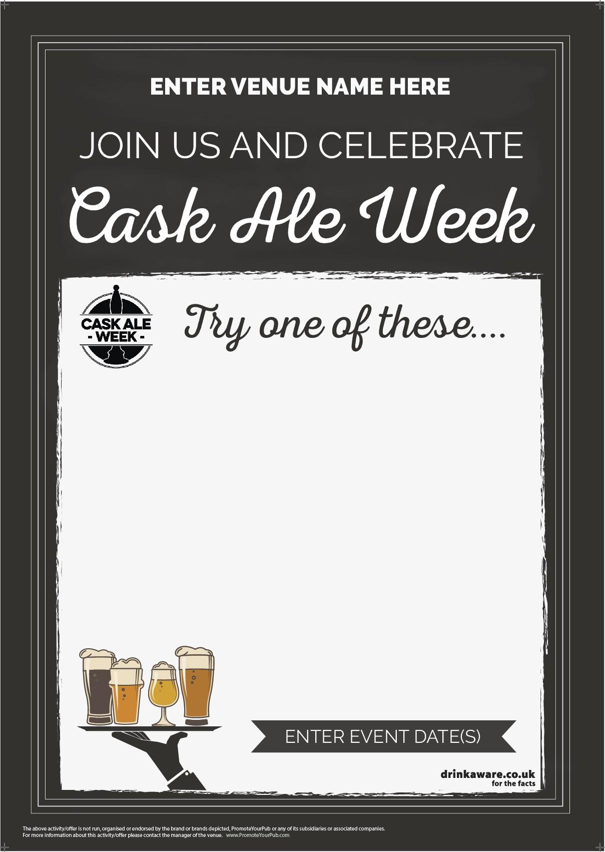Cask Ale Week 'Empty Belly' Poster (chalk) (A2)