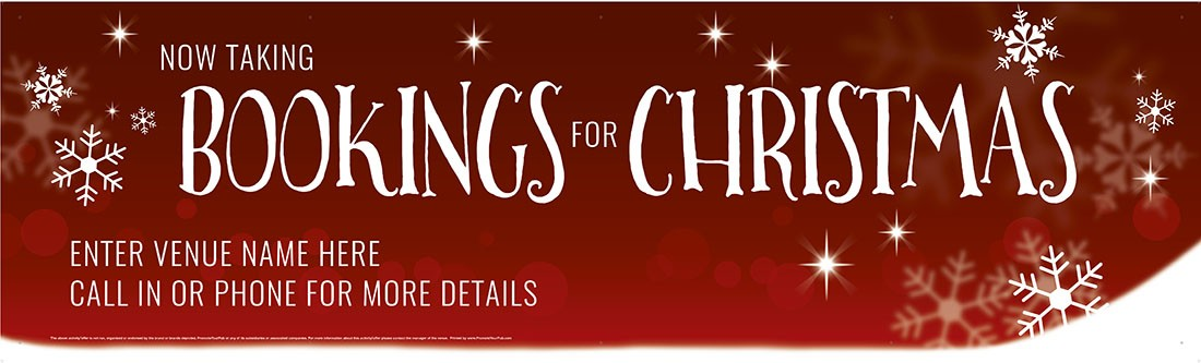 Bookings for Christmas Banner (XL10')