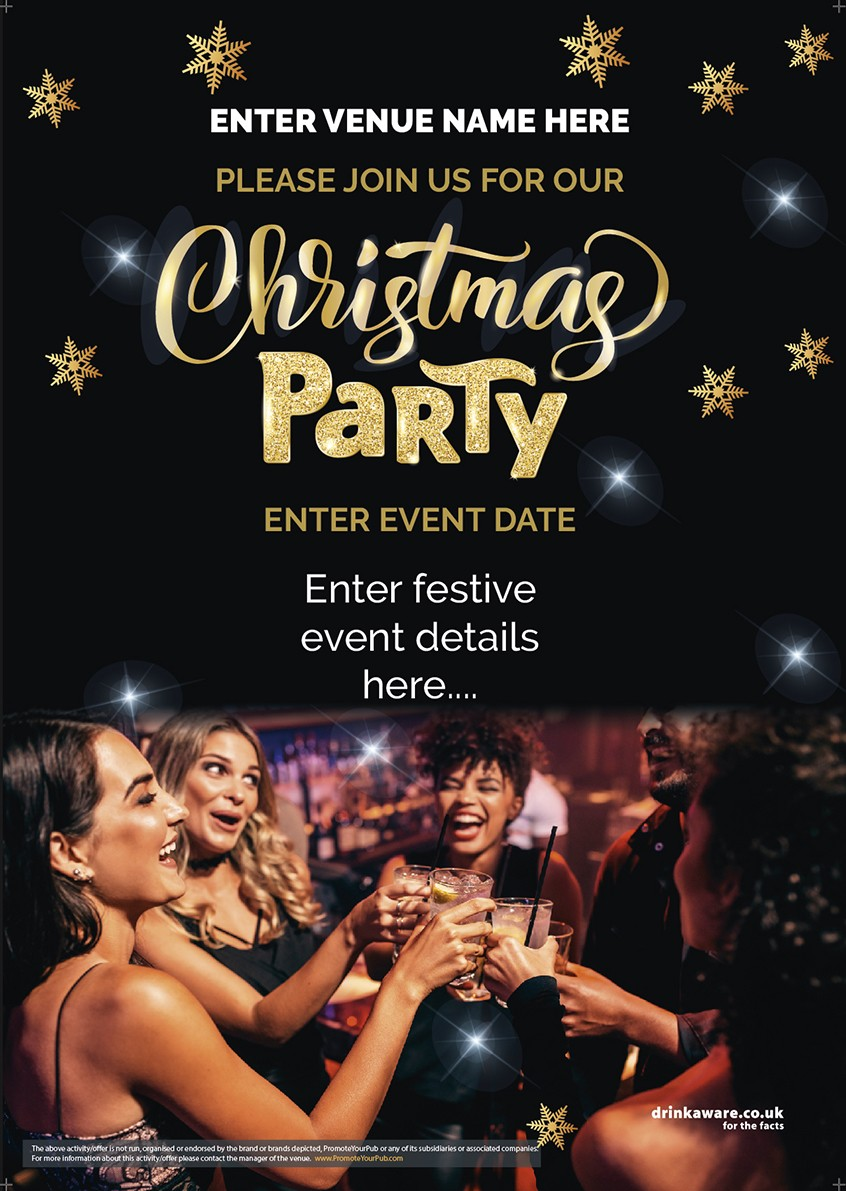 Christmas Party Flyer (photo) (A5)