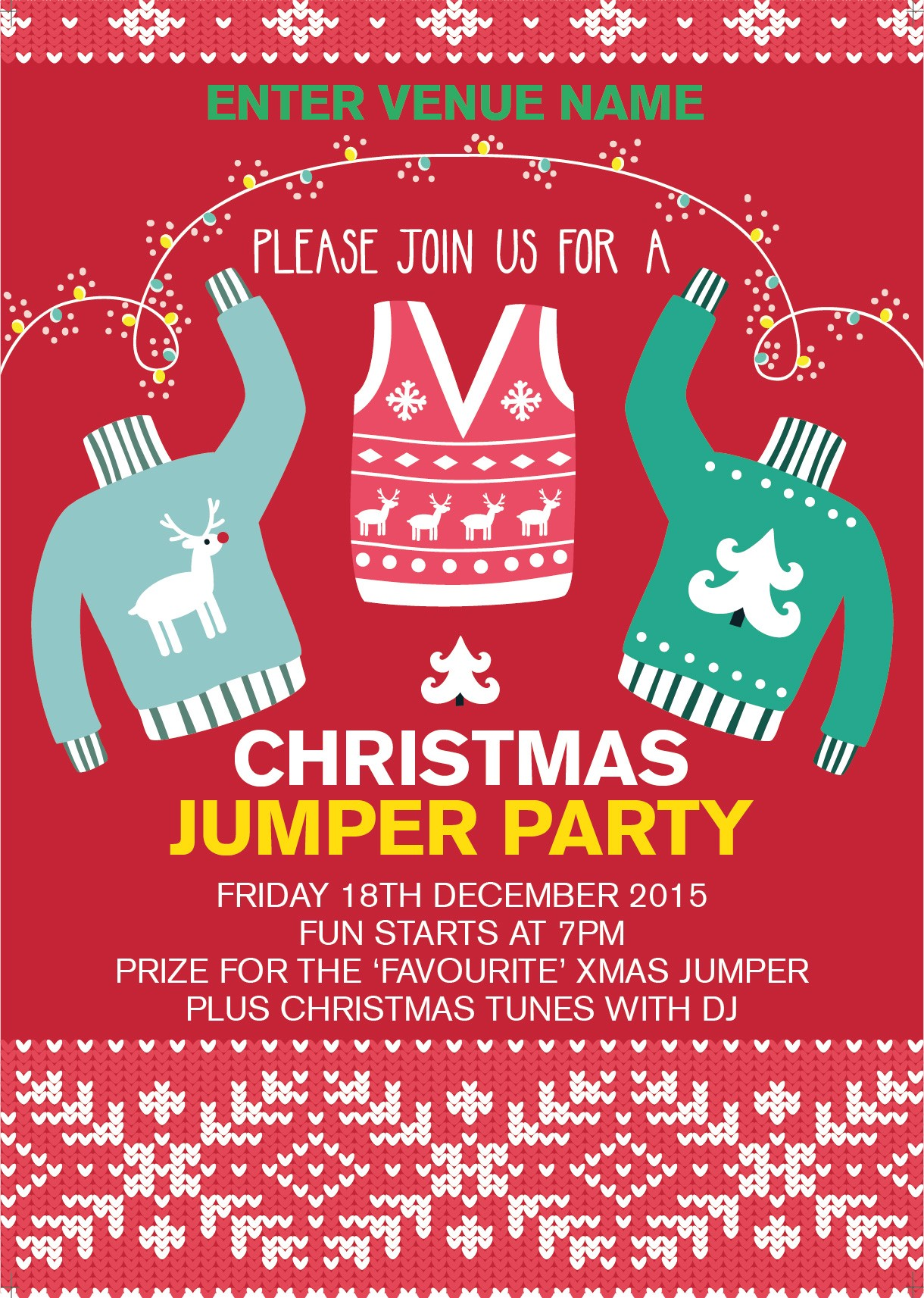 Christmas Jumper Party Poster | Promote Your Pub