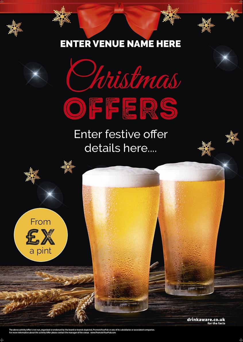 Christmas Pints Flyer (A5)