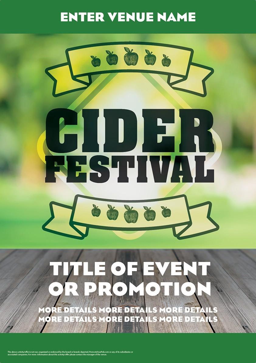 Cider Festival Green Poster (A4)