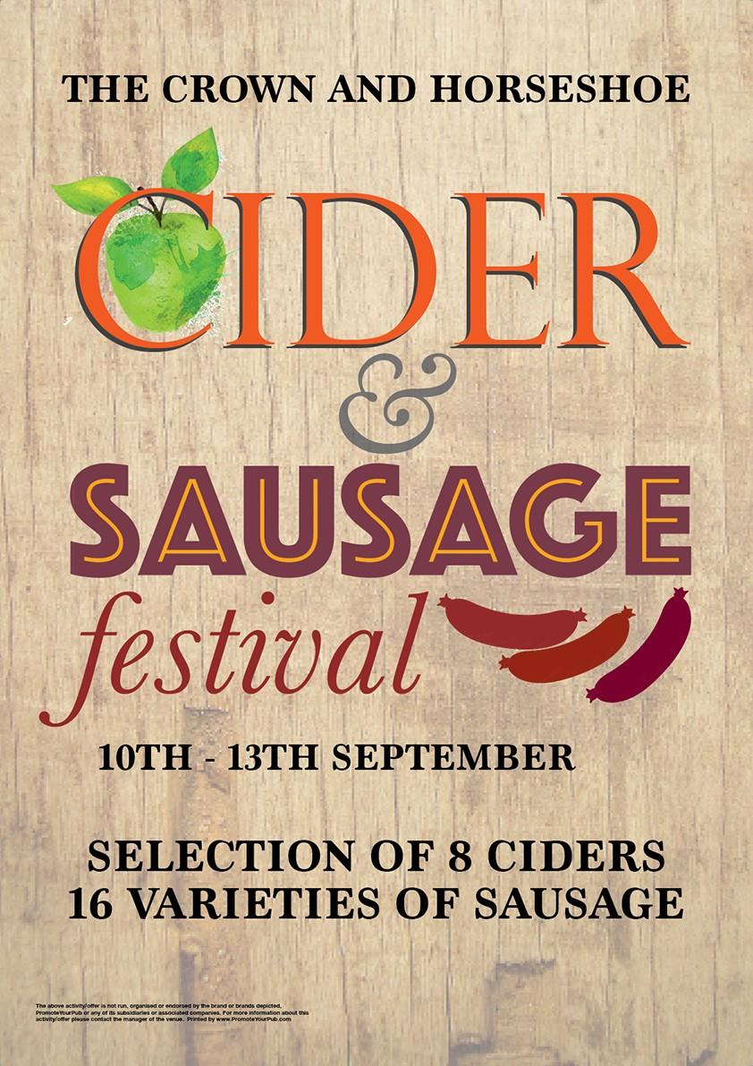 Cider & Sausage Festival Poster (A4)