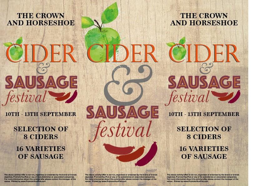 Cider & Sausage Festival 3 Sided Table Talker (10 per pack)