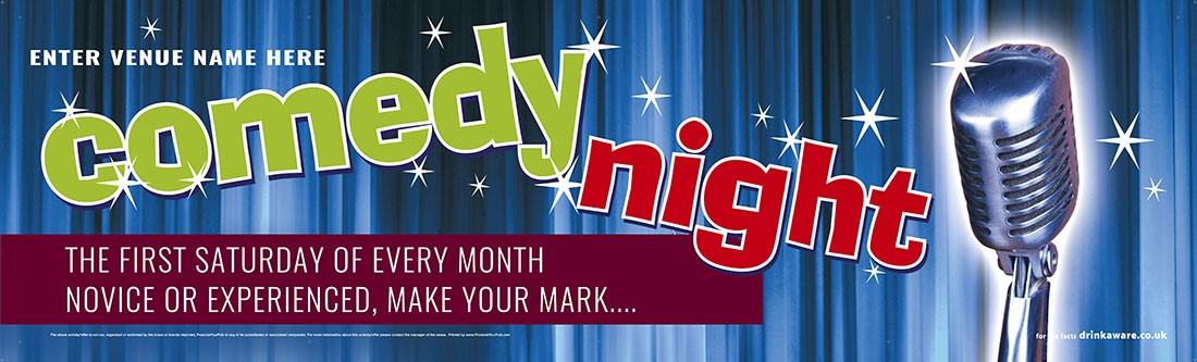 Comedy Night Banner (Lrg)