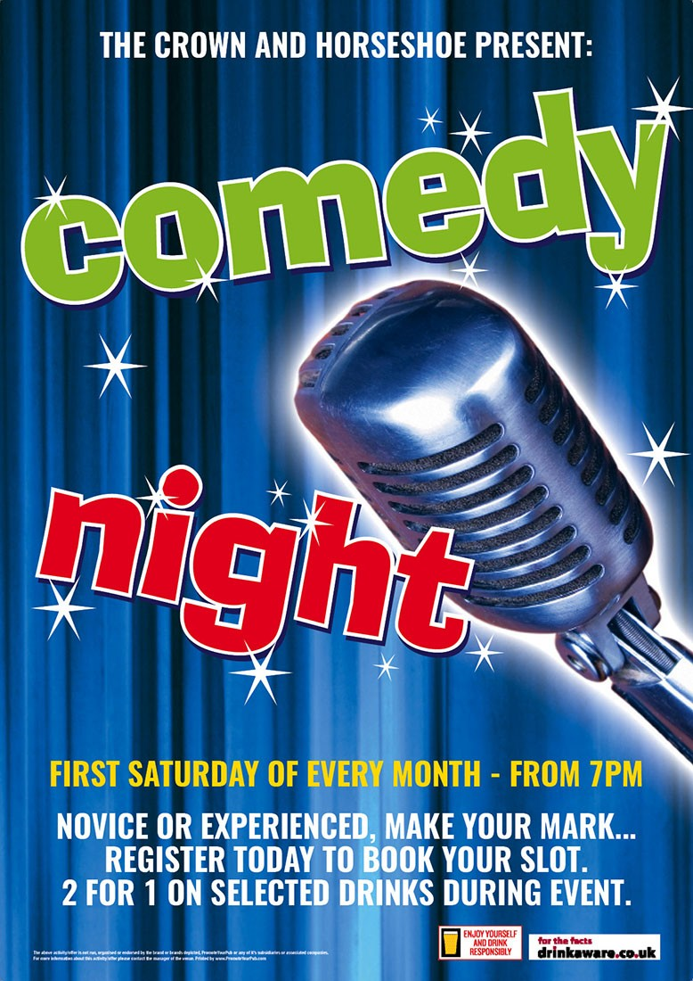 Comedy Night Poster (A4)