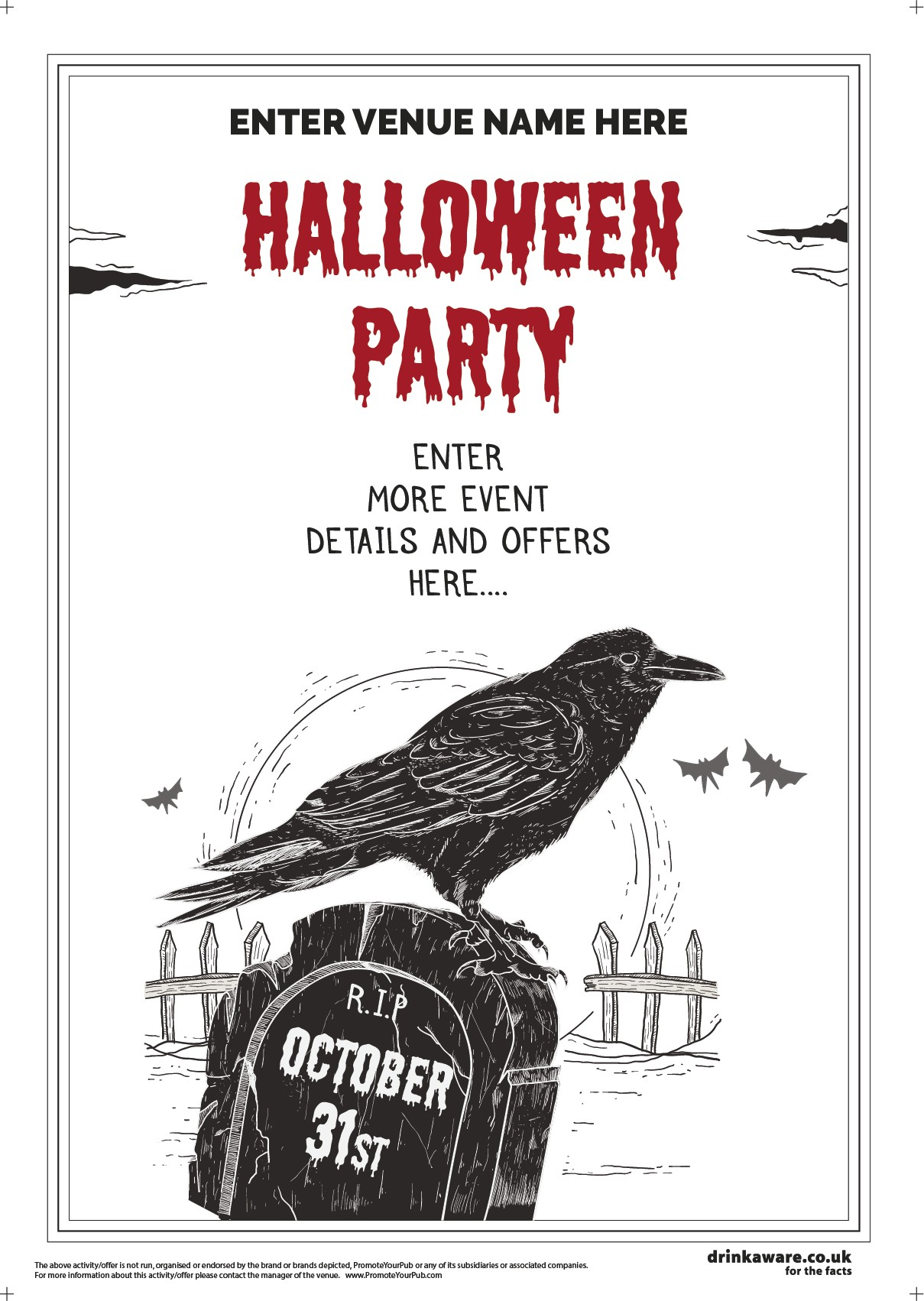 Halloween Party Flyer (Crow) (A5)