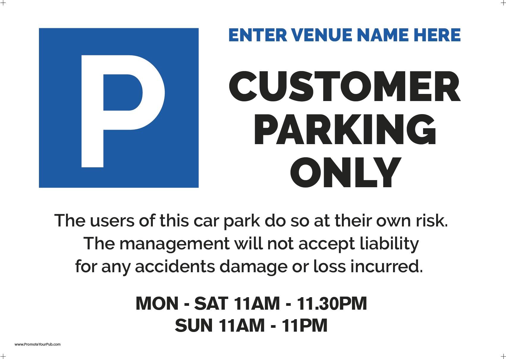 Editable Car park Sign