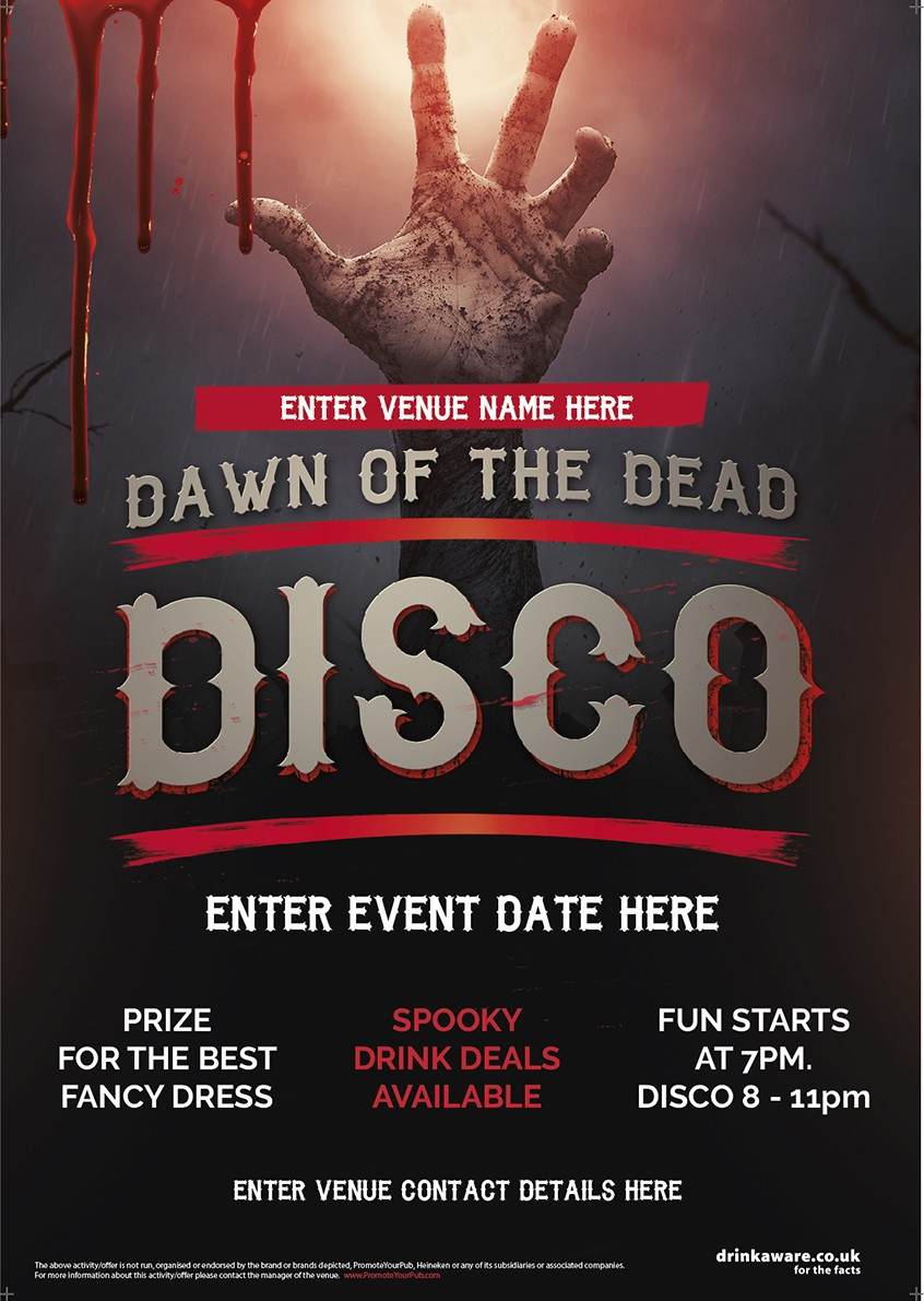 Halloween Disco Party Flyer (Dawn of the Dead) (A5)