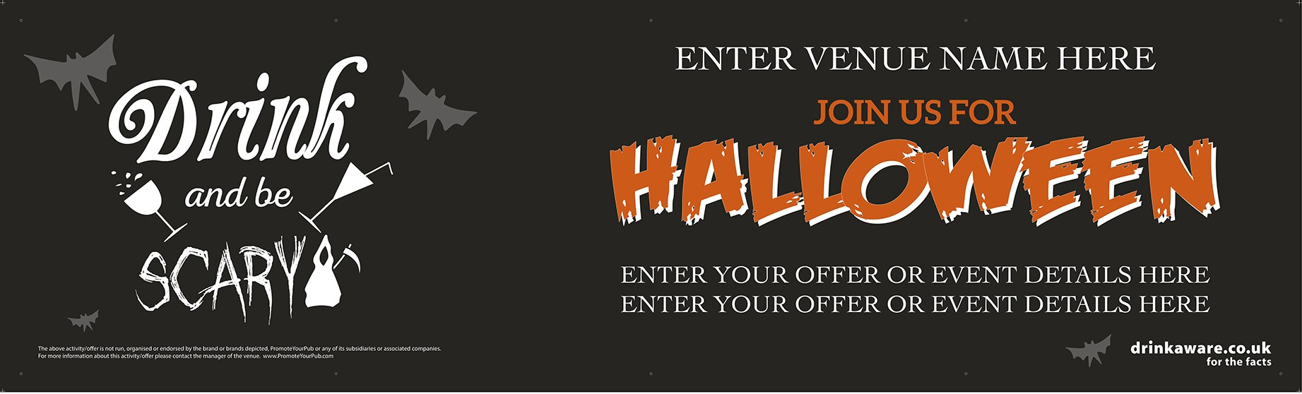 Halloween Drink and be Scary Banner