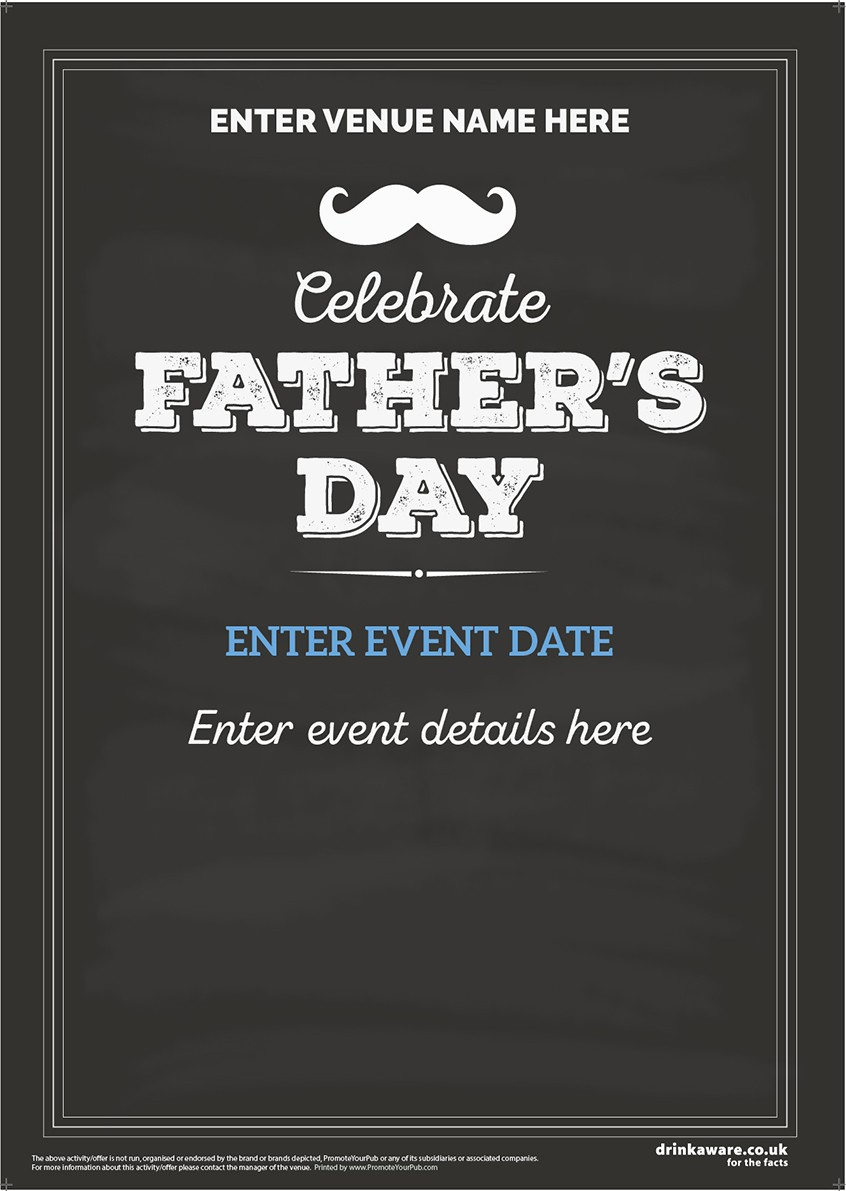 Father's Day (chalkboard) Flyer (A5)