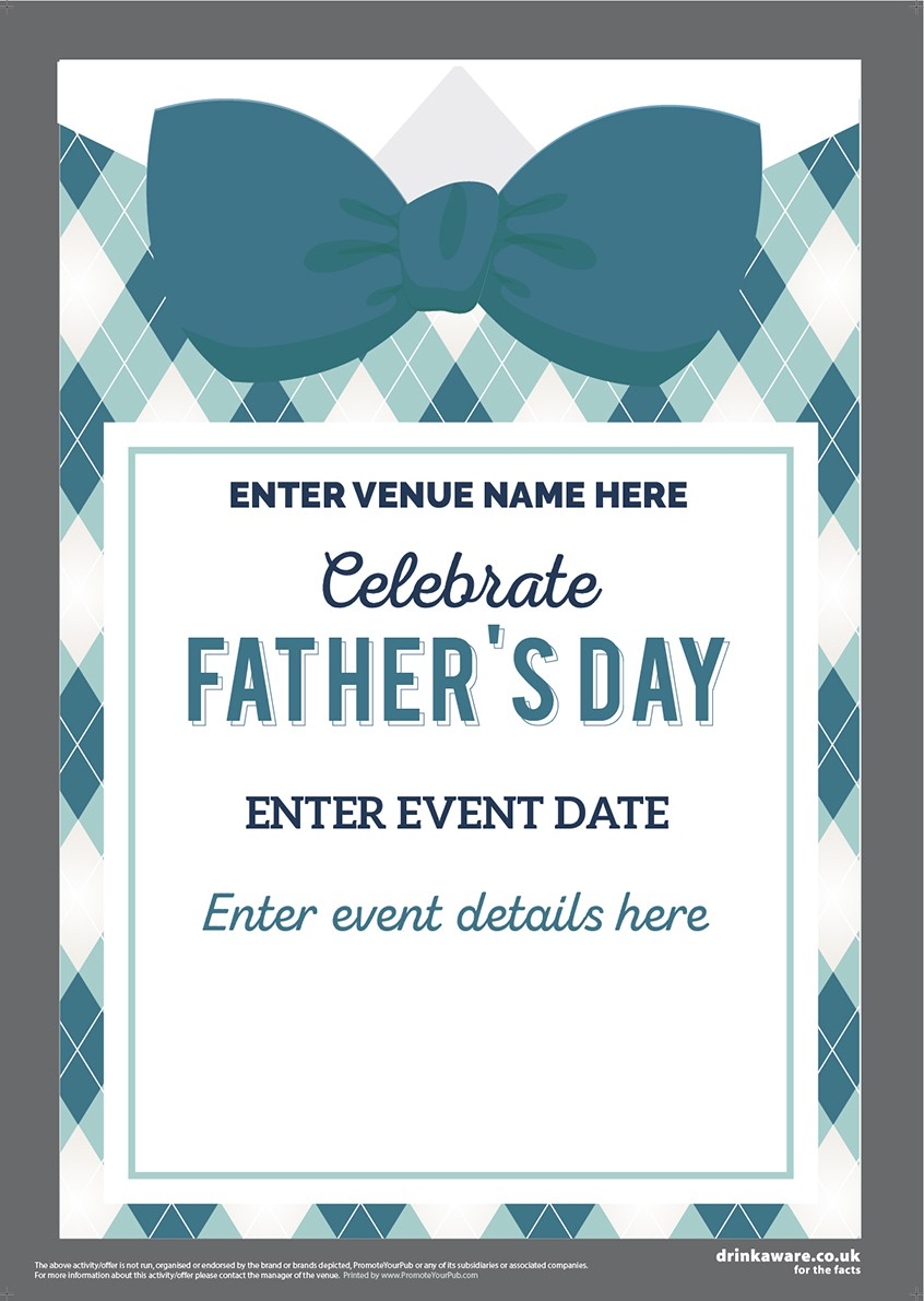 Father's Day (Bow Tie) Poster (A4)