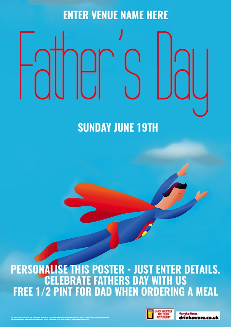Father Day Poster (A3) | Fathers Day | Q2: APR-JUN | Promote Your Pub